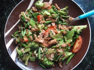 Tuna and veggies