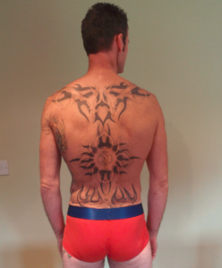 Karl's back shot July 2012