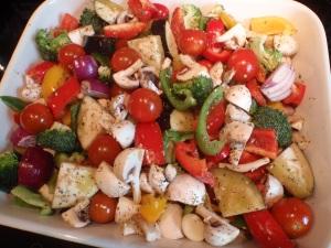 Roasted editerranean vegetables