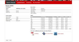 London Marathon 2014 my split times
